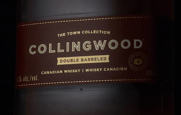 Collingwood Double Barreled Whiskey label